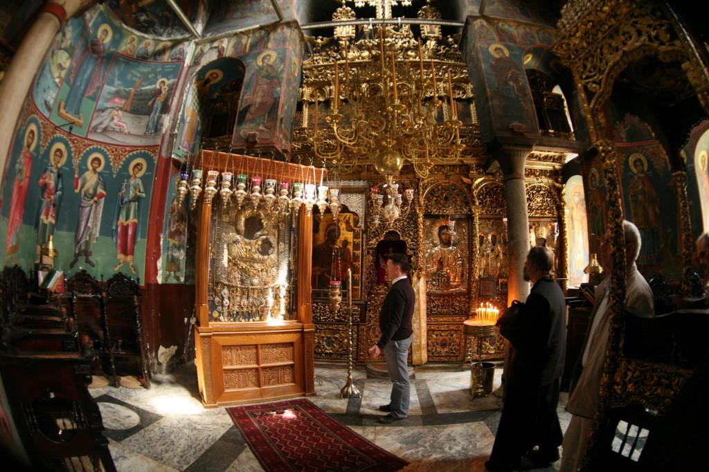 Иверский образ Пресвятой Богородицы. Иверский монастырь, Святая Гора Афон.