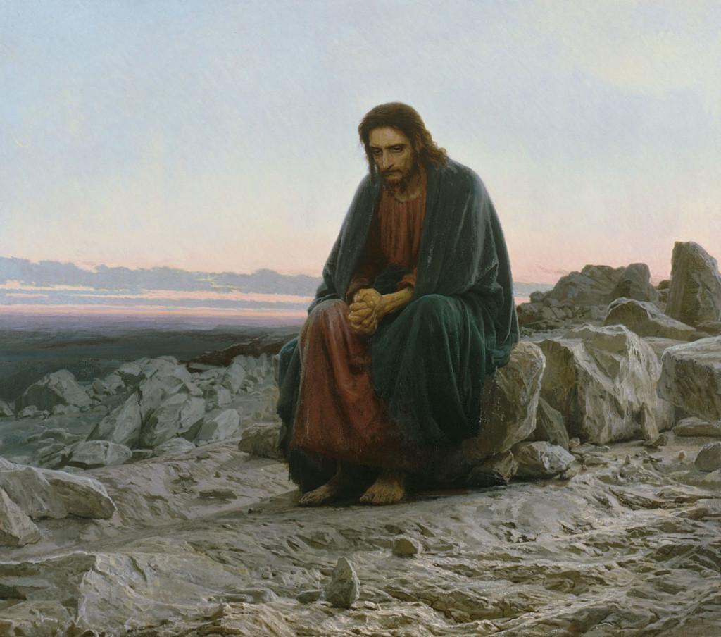«Христос в пустыне». Картина художника И.Н. Крамского